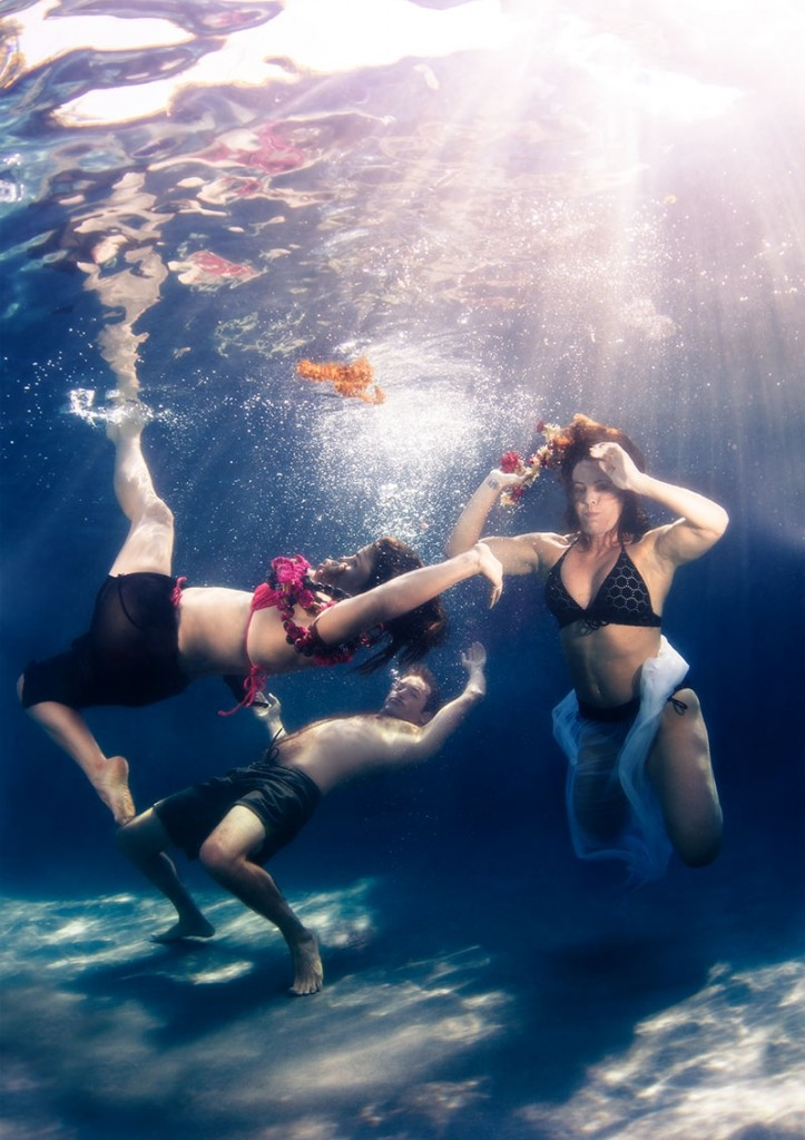 yoga photography Underwater